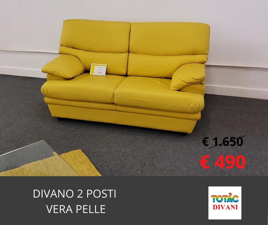 divano 2 posti OLIMPUS PELLE