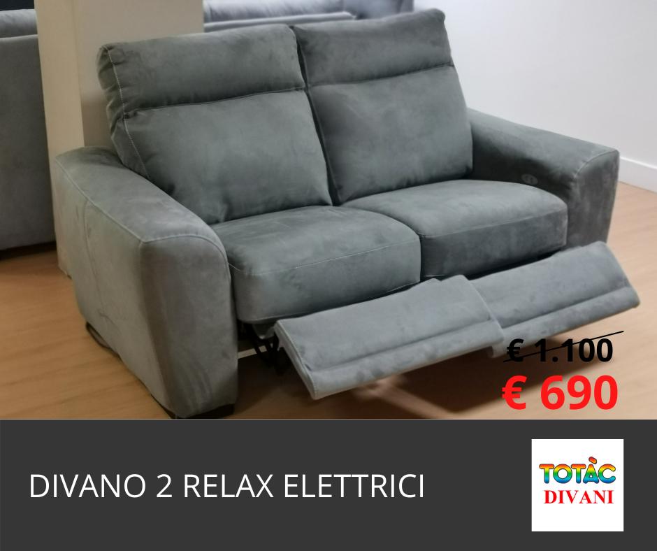 divano 2 relax elettrici silvana